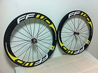 Wholesale Model of Yellow FFWD F6R mm road bike carbon wheels with rim width mm K kinds of Hub