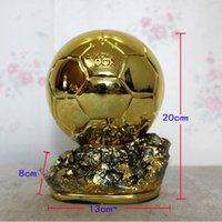 award for best - 20cm Height Customization DIY Golden Ball Trophy Model Award for Best Footballer Trophy Bottom Carved Name Collections Delicate Resin