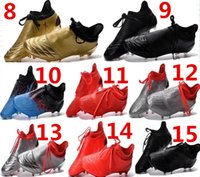 Wholesale Newest mens fashion waterproof accelerator speed of light ace Purechaos FG AG Soccer shoes Laceless Cleats Cheap Football boots