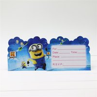 Wholesale movie minions theme kids birthday party paper invitation card cm birthday party supplier postcard