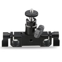 Support de montage flash dslr caméra Prix-CAMVATE Rod Clamp 15mm Railblock + 1/4 Hot Shoe Mount Mini Ball Head Support de support de flash