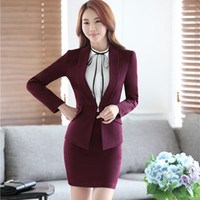 beautiful lady suit - 3XL Plus Size Beautiful Lady Fashion Business Suits Women Blazer with Pencil Skirt Suit Sets Fashion Office Clothing Two Piece Dress Sets