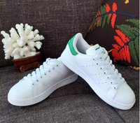 Wholesale Smith green tail shoes Korean men and women models couple low to help leisure sports shoes wild white shoes36