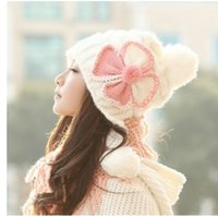 Wholesale Lady Hat Winter Fall Korean Knitted Wool Hat Fashionable Cute Hat with the Fitted Eartab