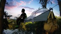 Wholesale Triangle hanging tree tent Air two person double hammock with removable rainfly