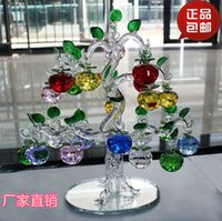apple live tv - Crystal apple tree Decoration Living Room Marriage Lucky Money Tree TV Wine Cabinet Opening Decoration Move New Home Gift