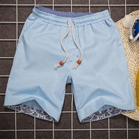 Linen beach slacks - Summer Shorts Men Linen Classic Shorts Casual Beach Short Pants Brand Famous Slacks Plus Size XL tenis masculino MSHT014
