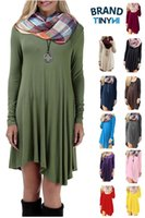 Wholesale Thanksgiving day Christmas Black Friday Network Monday Fashion high quality women s long sleeved robe casual loose T shirt mini dress