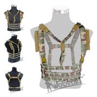 WosporT chalecos colgantes tácticos al aire libre Hunter Paintball Multi función 1000D Nylon MOLLE Militay arma CS Sling Wargames Protected Combat Vest