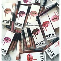Wholesale 2016 Newest KYLIE Jenner Lip Kit Makeup Colors Moon Spice Trick Smile Pumpkin Lip Gloss With Lip Liner Kit Matte Lipstick