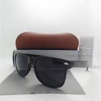 al por mayor hombres grandes gafas de sol-Gafas de sol del diseñador de la marca de fábrica de los hombres de las mujeres de la manera Vidrios de sol retros naturales de la vendimia de la protección del capítulo UV400 de la alta calidad 54MM con caja de los casos
