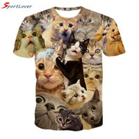 O-Neck awesome shirts - Sportlover NEW Surprised cats t shirt fluffy cuddly terrified cat faces awesome t shirt women men d summer tee shirt