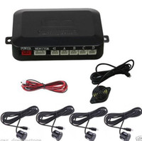 Wholesale 12V black Plastic Sensor Car SUV Reverse Parking Backup Radar Alert System Kit