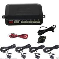 Wholesale 12V black Plastic Sensor Car SUV Reverse Parking Backup Radar Alert System Kit