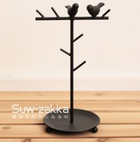 Wholesale Suw zakka Shuwei Iron Bird Storage Frame Japanese Grocery Good morning birds Hanging shelves
