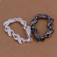 Wholesale 925 sterling silver jewelry set fashion jewelry set Black And White Dragon Head dgqalxxa coyalgf ds dsa
