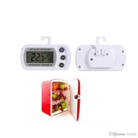 Wholesale New Digital LCD Probe Fridge Freezer Thermometer Thermograph for Refrigerator Car Mini Thermometer Universal Temperature Gauge