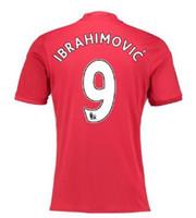 al por mayor camisas de personalización-La calidad tailandesa personalizada 16-17 nuevas 9 camisetas de los jerseys del fútbol de IBRAHIMOVIC remata, 10 jerseys del balompié de ROONEY USO, 16 CARRICK 12 SHALLING Fútbol USO