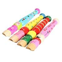 Wholesale seguryy Flauta infantil de madera con orificios unisex de