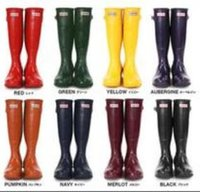 Wholesale 2016 Ms glossy Rain hunter Boots rain boots Waterproof hunter wellies over knee women shoes boots Glossy matte size