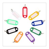 Wholesale Best Seller Keychain Colorful Key ID Label Plastic Key Tags ID Label Tags Split Ring Keyring Keychain