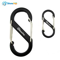 Wholesale Aluminum alloy S type mountaineering buckle Fast Hang button hanging outdoor backpack buckle S Shape Climbing Carabiner