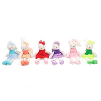 13-24 Months Rabbit Plush Mamas & Papas Baby Toys Cute Rabbit Sleeping Comfort Stuffed Doll Cartoon Bunny Plush Animals For Baby Gifts 42cm 16.5 inches 6 colors C1920