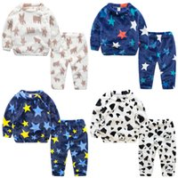 Wholesale Kids Clothes Baby Boy Clothes Baby Pajamas toddler girl clothes trousers christmas outfit children infant clothing mickey Homewear Suit