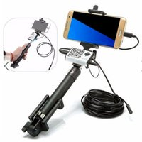 Mobile Phone   1M 3.5M 5M 7mm Selfie Stick Monopod Handheld 2MP Wireless WiFi Endoscope Borescope Inspection Camera For ANdroid IOS WP Phone