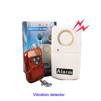 anti theif alarm - High sensitive remote control Earthquake quake door motorcycle anti theif alarms Vibration Detector with LED indicator