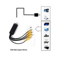 Wholesale 4 channel Easycap USB Easy Cap Video TV DVD VHS DVR Capture Adapter Usb Video Capture Card Easycap Vedio Capture Device Escap