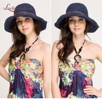 Sombrero de playa Baratos-Las nuevas mujeres de la manera ponen en cortocircuito la tapa de la paja de la decoración de la paja Sombrero de señora Summer Beach Sombrero de Sun Sombrero plegable plegable de los sombreros de Bohemia de la paja de los sombreros