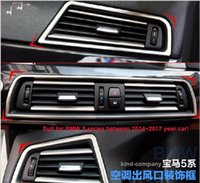 Wholesale 1set stainless steel car auto motor air condition decoration sticker For BMW series year car