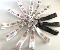 Wholesale 100pcs quot Fold Over Elastic Hair Band Lularoe Unicorn Print Hair Tie FOE Ribbon Hair Band Lularoe Ponytail Holder Girl Bracelet Wristband