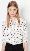 apparel america - garment factory dewdrops print america equipment ladies silk woven blouse sandwash cdc silk apparel wovmen shirt