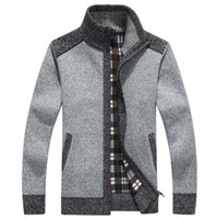 arrived style long - New Arrives Winter Men s Cardigans Sweaters Mandarin Collar Casual Clothes For Men Zipper Sweater Warm Knitwear Sweater