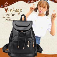 Wholesale 1pc Designer Bags PU Leather Backpacks Black Weave School Bags For Teenagers Girls Female Outdoor School Bags Bookbag