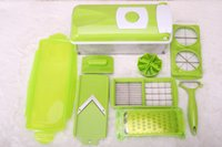 Wholesale Super Slicer Plus Vegetable Fruit Peeler Dicer Cutter Chopper Nicer Grater Good Fruit Salad Machine PC Set