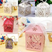 Wholesale Pack Love Heart Favor Ribbon Gift Box Candy Boxes Wedding Party Decor