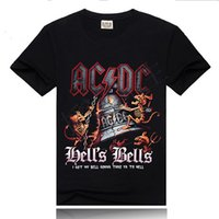 ac dc clothing - Womens Black ACDC Printed T Shirt Women T shirt Novelty Streetwear Woman Tshirt Girls Rock Clothing AC DC Heavy Metal Rock Music