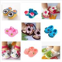 venda por atacado booties crochet do bebê-Baby Crochet Bootie Toddlers Handmade Botas Sapatas Infantis Manual Hand-Crocheted Walker primeiro sapatos Calçados de Bebê Tricô Princesa Shoe D488