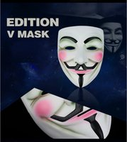 Wholesale V vendetta The most popular style of the whole network The ghost dance steps Hip hop Masquerade man s mask Full face clown V vendetta mask