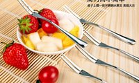 Wholesale Stainless Steel Fruit Forks Cutlery Dessert Fruit Forks For Restaurant Cafeteria Home Flatware For Fruit Salad cm