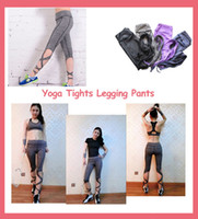 Wholesale Yoga Tights Legging Pants Ballet Bandage Pants Cross line Quick dry Elastic Waist Sportswear for Fitness Dance Sports Trousers