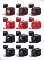 Unisex beanie with ball - Hip Hop Snapback Sport Hats Leather Snapbacks Baseball Cap Red Black Brown Grey Snapback Hats Caps Top Quality Can Mix Order with Beanies