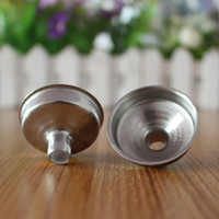 Wholesale Stainless Steel Liquor Alcohol Party Drink Hip Hip Flask Funnel Mini Metal Perfume Essential Oil Fill Transfer Funnel