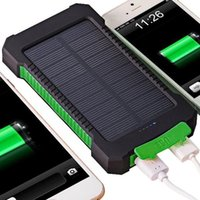 Wholesale Solar Power Bank Dual USB Travel Power Bank mAh External Battery Portable Charger for Mobile Phone mAh mAh Retailpackage