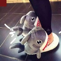 Wholesale Fashion Suck Off Sharks SOS Plush Slipper Winter Warm Slippers Cute Soft Doll Shoes Indoor Slippers Cosplay Toy M559