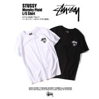 Wholesale 2017 stussy street boy fashion basic casual wear crew neck short sleeve T shirt cotten t shiurt