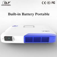 Grossiste- Projecteur de poche 3D Projecteur multimédia HDMI Projecteur multimédia Full HD 1080P Vidéo Sans fil WIFI Miracast DLNA Airplay Projecteur LED